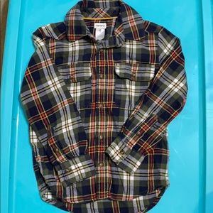 Carters Flannel Button Down, 5T